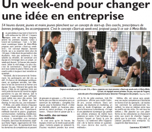 Républicain Lorrain - Start-up WE Metz JCE