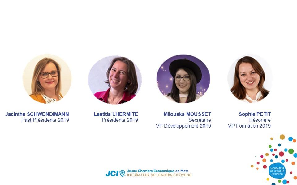 Membres du bureau JCE de Metz 2019